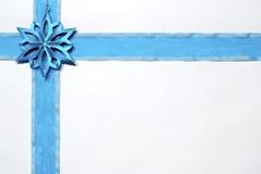 Blue christmas ribbon Stock Photos