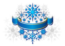Blue Christmas ribbon Stock Image