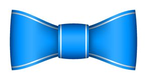Blue christmas ribbon bow. With light shadow Royalty Free Stock Image