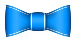Blue christmas ribbon bow Royalty Free Stock Image