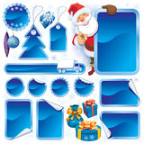 Blue Christmas sale Stock Photos