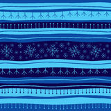 Blue Christmas seamless background. With snowflake royalty free illustration