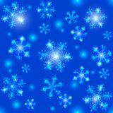 Blue Christmas seamless crystal snowflakes Royalty Free Stock Photography