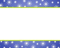 Blue Christmas Snow Borders. A clip art illustration featuring blue  christmas borders with snowflakes. Can be used separately or as an entire background Stock Photos