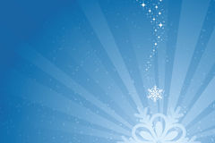 Blue Christmas Snowflake Background Stock Photo