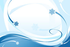 Blue Christmas Snowflake Background Royalty Free Stock Photo
