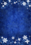 Blue Christmas Snowflake Background Stock Images