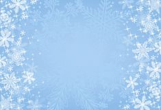 Blue Christmas Snowflake Background Stock Photography