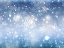 Blue christmas snowflake background Royalty Free Stock Photography