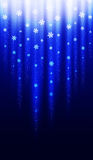 Blue Christmas Snowflake Background Stock Photos