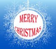 Blue Christmas Snowflake Wreath. Vector illustration EPS10 Stock Photos