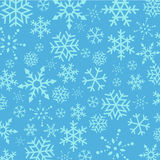 Blue Christmas  Snowflakes abstract background Stock Photography