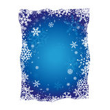 Blue Christmas Snowflakes Background. Christmas Blue Background with Snowflakes vector Stock Photos