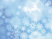 Blue Christmas with snowflakes. EPS 10 Royalty Free Stock Photos
