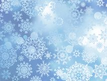Blue Christmas with snowflakes. EPS 10 Stock Images