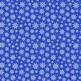 Blue Christmas Snowflakes Pattern Royalty Free Stock Images