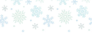 Blue Christmas Snowflakes Textile Texture Stock Photo