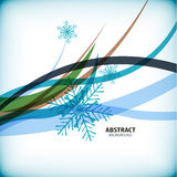 Blue Christmas snowflakes wave abstract background Stock Image