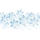 Blue Christmas snowflakes Royalty Free Stock Photos