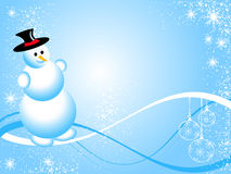 Blue Christmas Snowman Royalty Free Stock Image