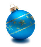 Blue christmas sphere Royalty Free Stock Photos