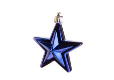 Blue christmas star Stock Photo