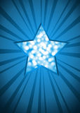 Blue Christmas star card Stock Image