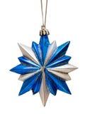 Blue Christmas star isolated Stock Photos
