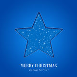 Blue Christmas star Royalty Free Stock Photography