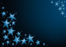 Blue Christmas Stars Royalty Free Stock Photos