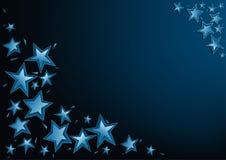 Blue Christmas Stars Royalty Free Stock Photos