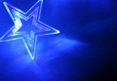 Blue christmas stars Stock Photography