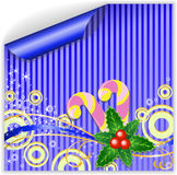 Blue Christmas sticker Stock Photography