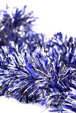 Blue christmas tinsel Stock Image