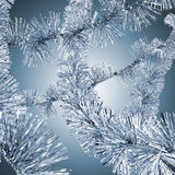 Blue christmas tinsel Royalty Free Stock Image