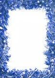 Blue Christmas tinsel garland Royalty Free Stock Photo