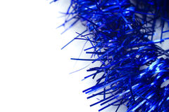 Blue christmas tinsel garland decoration Royalty Free Stock Images