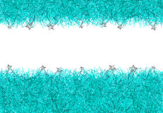 Blue christmas tinsel texture background Royalty Free Stock Photos