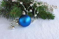 Blue Christmas toy Stock Image