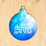 Blue Christmas toy carved from wood. Vector illustration Royalty Free Stock Images