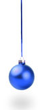 Blue Christmas toy Stock Images