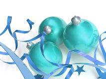 Blue christmas toys Stock Images