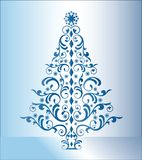 Blue christmas tree Royalty Free Stock Photos