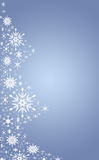 Blue  christmas tree. A abstract back ground image of christmas tree made from snowflakes Stock Images