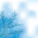 Blue christmas tree Royalty Free Stock Photography