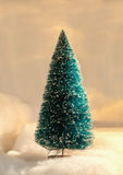 Blue christmas tree. Artificial blue christmas tree decoration Stock Photo