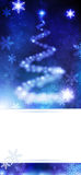 Blue Christmas Tree Stock Photography