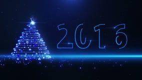 Blue christmas tree stock video footage