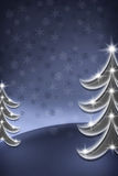 blue christmas tree Στοκ φωτογραφίες με δικαίωμα ελεύθερης χρήσης