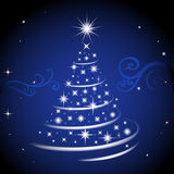 Blue christmas tree. Motion stylish christmas tree, the vector image, an additional format available Stock Photos
